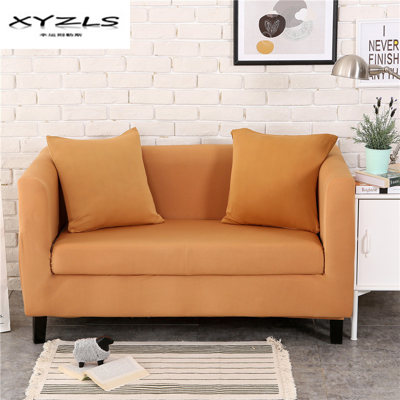 Xyzls 1 2 3 4 Seater Flexible Solid Color Sofa Cover