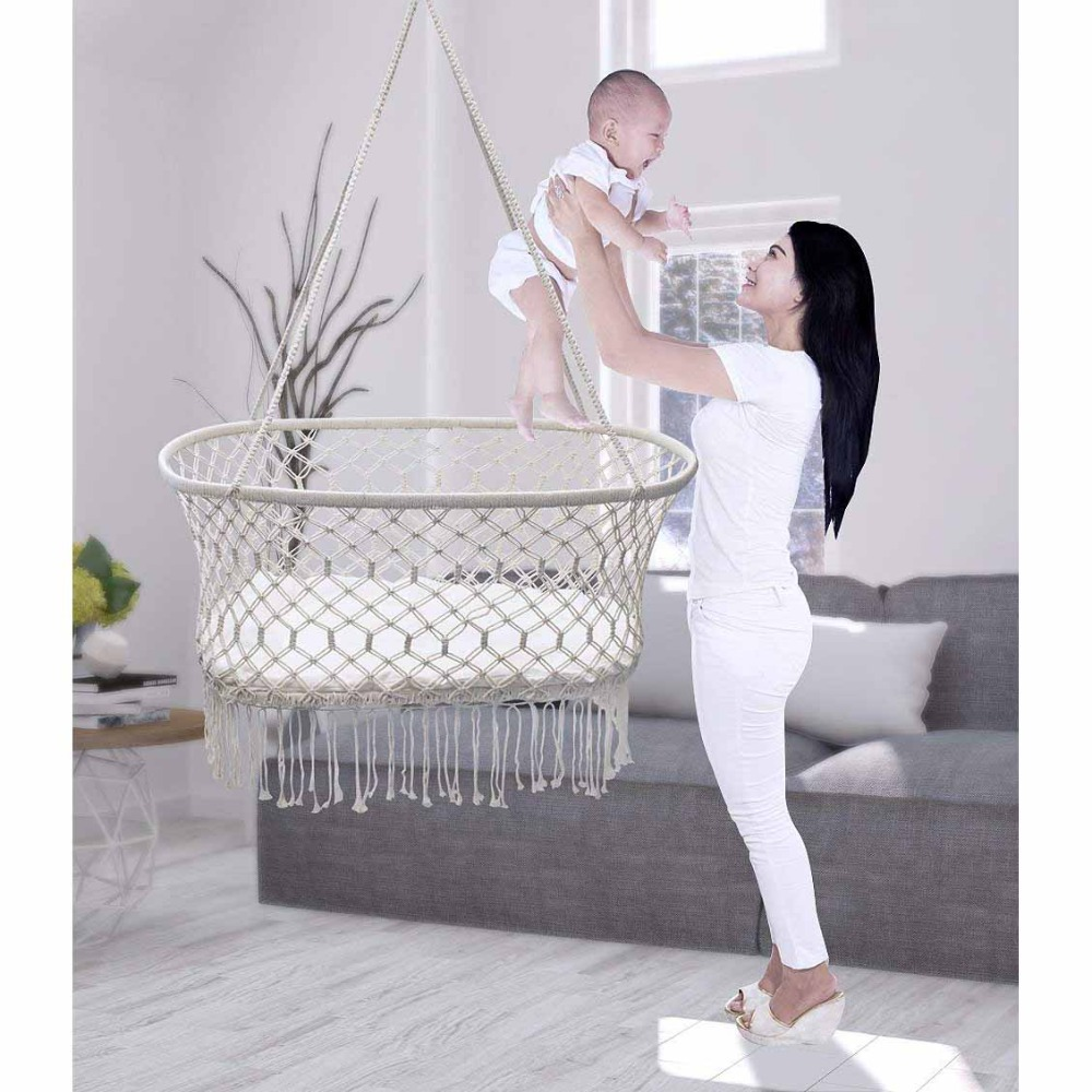 Купить с кэшбэком Baby Crib Hanging Cradle, Hanging Bassinet and Portable Swing for Baby Nursery