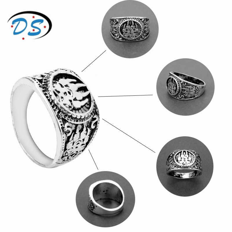 Vikings Original Slavic God Symbol Warding Veles Amulet Bear Paw Ring for Women Men Punk Jewelry Finger Rings