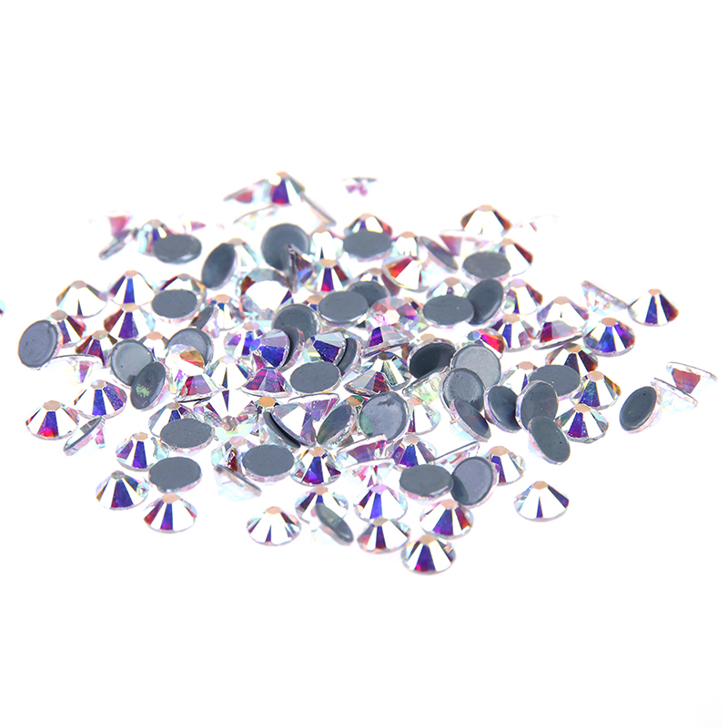 Crystal AB Hotfix Flatback Rhinestones Strass Glass Stones Stickers ss3-sss40 For 3D Nails Art Backpack DIY Design Decorations strass glass ab rhinestones non hotfix ss20 4 8 5 0mm for 3d nails art design decorations crystal for nails gel nail accessories