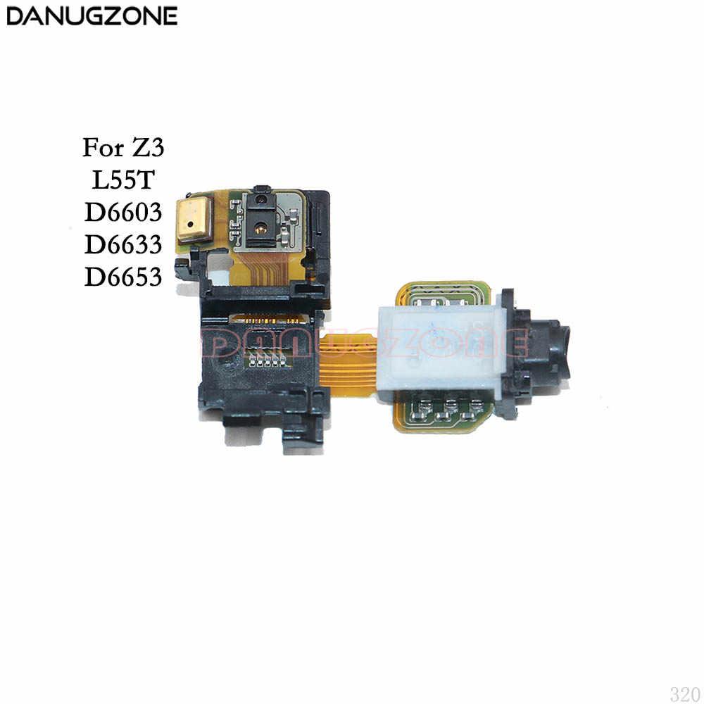 Earphone Audio Jack Soket Headphone Headset Port FLEX Kabel untuk Sony Xperia Z1 Z3 Mini M4 XA Z5 Plus Z5P z5C/Z5 Kompak Premium