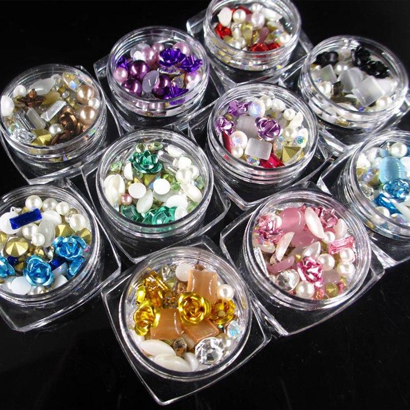 Clever 2018 Neue Nagel Kunst Dekoration Gemischt Metall Smd Legierung Perle Ball Boxed Post Bohrer Nagel Decor Diamant Ornamente Nails Art & Werkzeuge