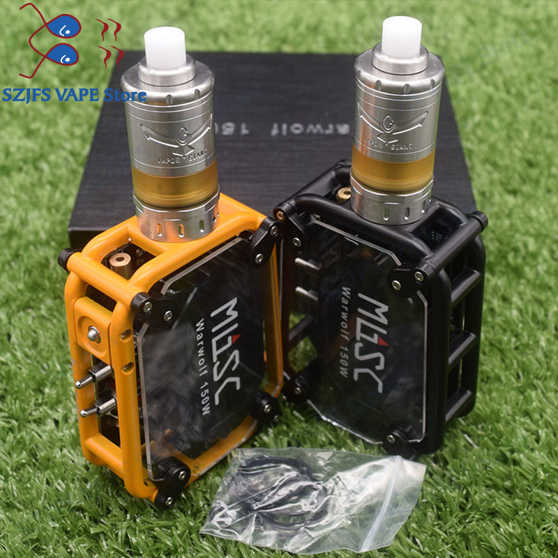 HOtElectronic <font><b>cigarette</b></font> Warwolf <font><b>150W</b></font> <font><b>Box</b></font> <font><b>Mod</b></font> Kit vape with Vapor GiantM5 MTL RTA 5ml Capacity <font><b>e</b></font>-<font><b>cigarette</b></font> output 3500mAh battery image