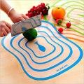 Cozinha de Plástico Bloco de Desbastamento Tábua de Carne Legumes Fruta Classificados Antibacteriano Não-slip Fosco Transparente Flexível