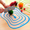 Kitchen Plastic Chopping Block Meat Vegetable Fruit Cutting Board Frosted Transparent Bendable Classified Antibacterial Non-slip