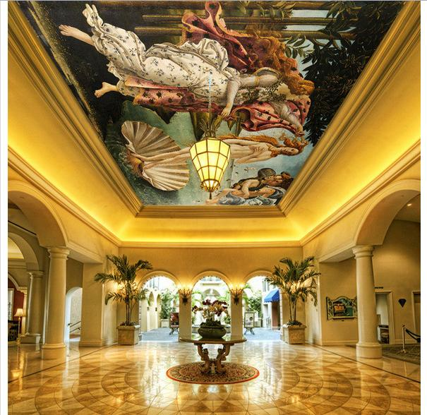 Купить с кэшбэком Customized photo wallpaper 3d wall murals The birth of Venus super giant European paintings wall papers for living room decor