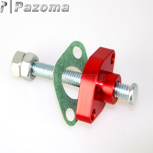 Street red manual adjuster timing cam chain tensioner for kawasaki.