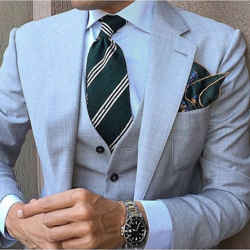 Notch Lapel Men's 3 Piece Formal Wedding Groom Tuxedos Groomsman Best Man Suits C236
