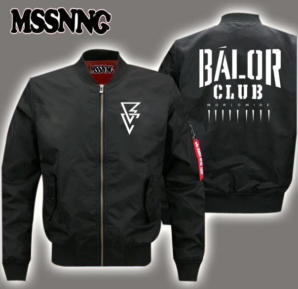 Mens flight jacket Bomber woolliner print Balor Club Roman Reigns best fastest speed of transportation plus size ...