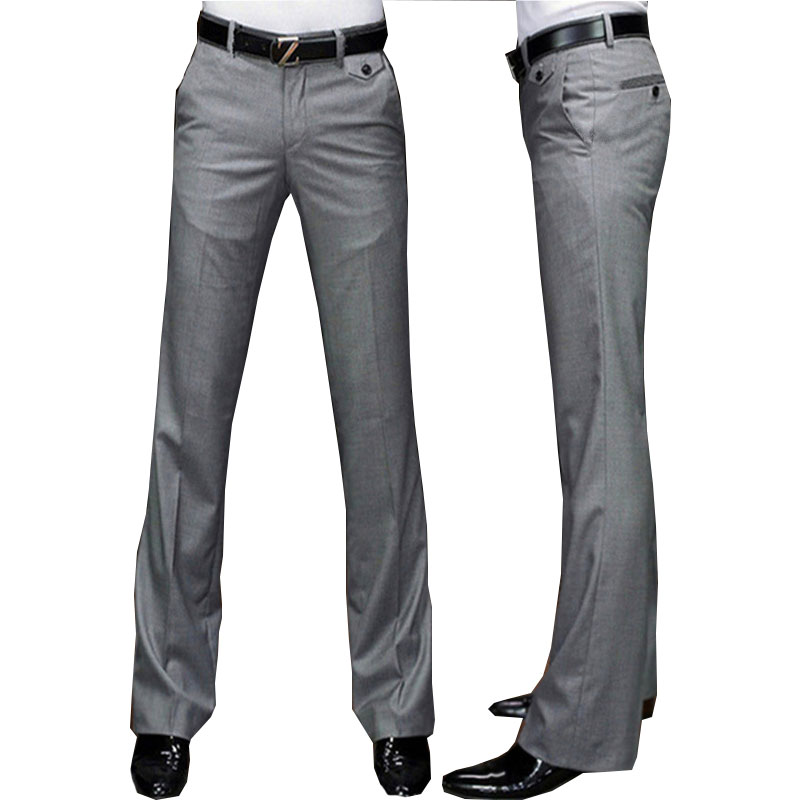 New Modis Flared G pants Male Summer Straight Suit pants British leisure Free hot feet trousers Formal pants For Men