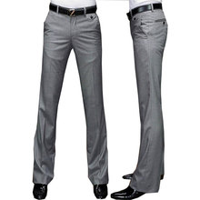New Modis Flared G pants Male Summer Straight Suit pants British leisure Free hot feet
