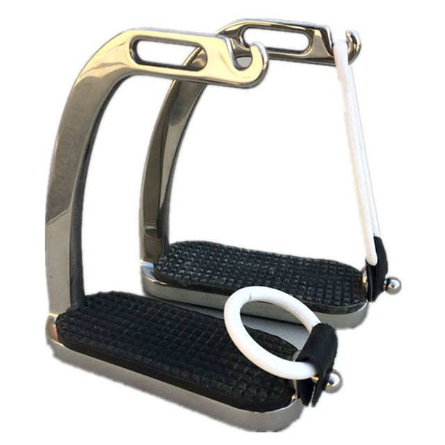 4 5/8 Inches Stainless Steel Peacock Horse Stirrup 1
