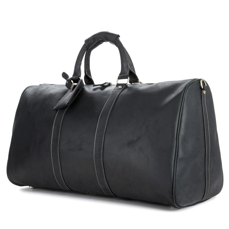 Ybriefbag Unisex Mens Travel Bag Leather Handbag Oil Wax Bag Shoulder Bag First Layer Leather Travel Bag Shoulder Retro Travel Bag Vacation