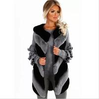 Women Fur Waistcoats Fashion Coats Woman Faux Fur Vest Mid Length Luxury High quality Fur Vest