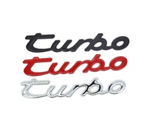 3D metal TURBO car stickers badge emblem Car sticker Rear Trunk for For Ford Focus 23 vw skoda seat audi mazda bmw car-styling