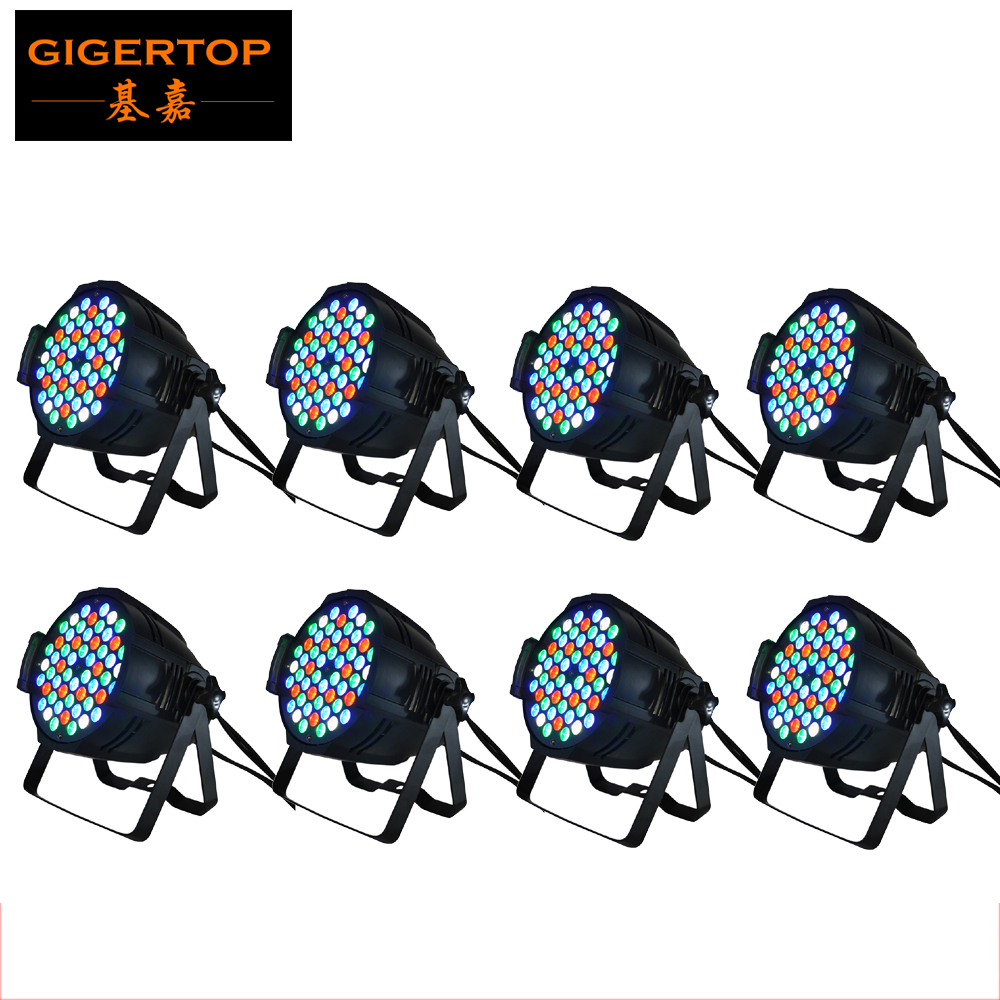 TIPTOP Stage Light 8PCS 54x3W Stage Led Par Light RGBW Single Color DMX 4/8 Channels 200W led party light effect stage light xiaomi mjdjj01fy bluetooth 4 0 radio two way walkie talkie white