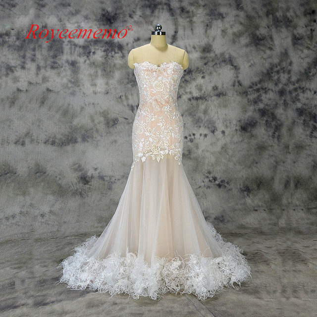 ea3db3416be mermaid lace wedding dress sexy transparent skirt wedding gown custom made  factory wholesale price