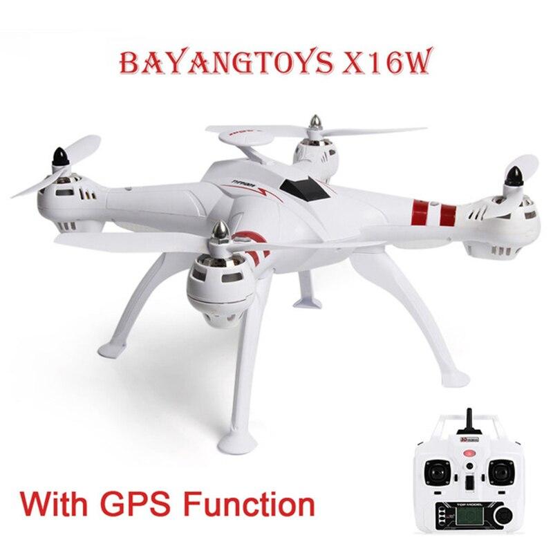 BAYANGTOYS X16 Mini Drones RC Hélicoptère GPS Moteur Brushless RC Quadcopter RTF 2.4 GHz 4CH 6 Axe 360 Degrés Flip Retour automatique
