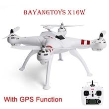 Bayangtoys x16 Mini дроны вертолет gps безщеточный RC Quadcopter RTF 2,4 ГГц 4CH 6 оси 360 градусов флип автоматический возврат