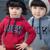 LittleSpring niñas sudadera prendas de vestir exteriores ropa gris rojo de manga larga con capucha chicas abrigos con capucha para niñas adolescentes