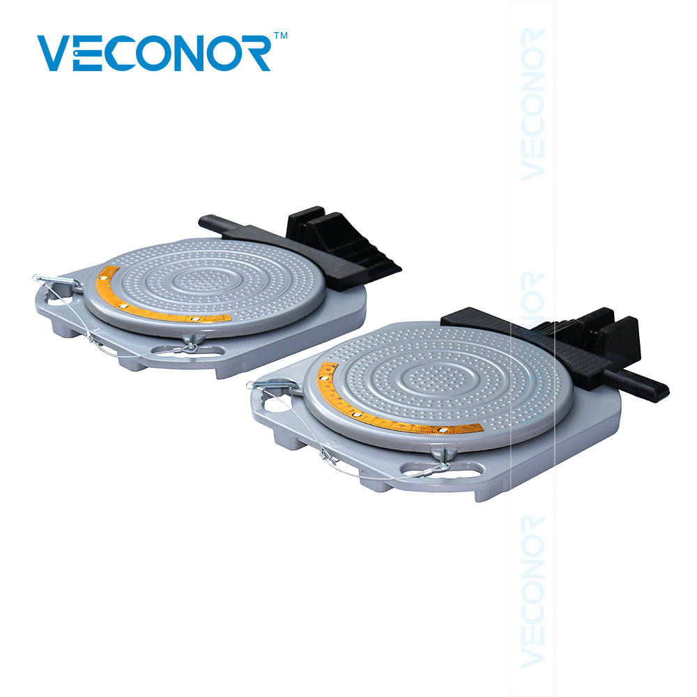 Veconor Wheel Alignment System Turnplates Heavy Duty Turn Tables Radius Plates With Scale 10 Ton Load Capacity цены