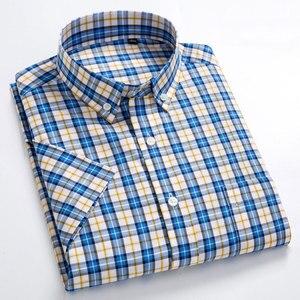 Image 4 - MACROSEA เสื้อลำลองผู้ชาย Leisure ออกแบบลายสก๊อตคุณภาพสูงผู้ชายสังคม 100% เสื้อผ้าฝ้ายแขนสั้นผู้ชายเสื้อ BLN