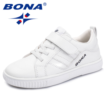 BONA New Fashion Style Children Casual Shoes Synthetic Girls Flats Hook & Loop Boys Loafers Outdoor Sneakers Free Shipping