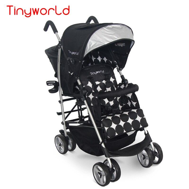 Peso leve gêmeos gêmeos carrinho de bebê carrinho de bebê dobrável dupla do carro assento de carro do bebê carrinho de bebê super leve frente e para trás