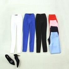 Женская одежда Женская Весна и лето черный белый сапфир синий розовый красный был тонкий большой размер ноги брюки женские брюки