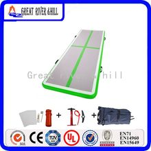 ! gray green color cheap gym sports game mat inflatable matress used air track for sale 3MX1MX0.1M