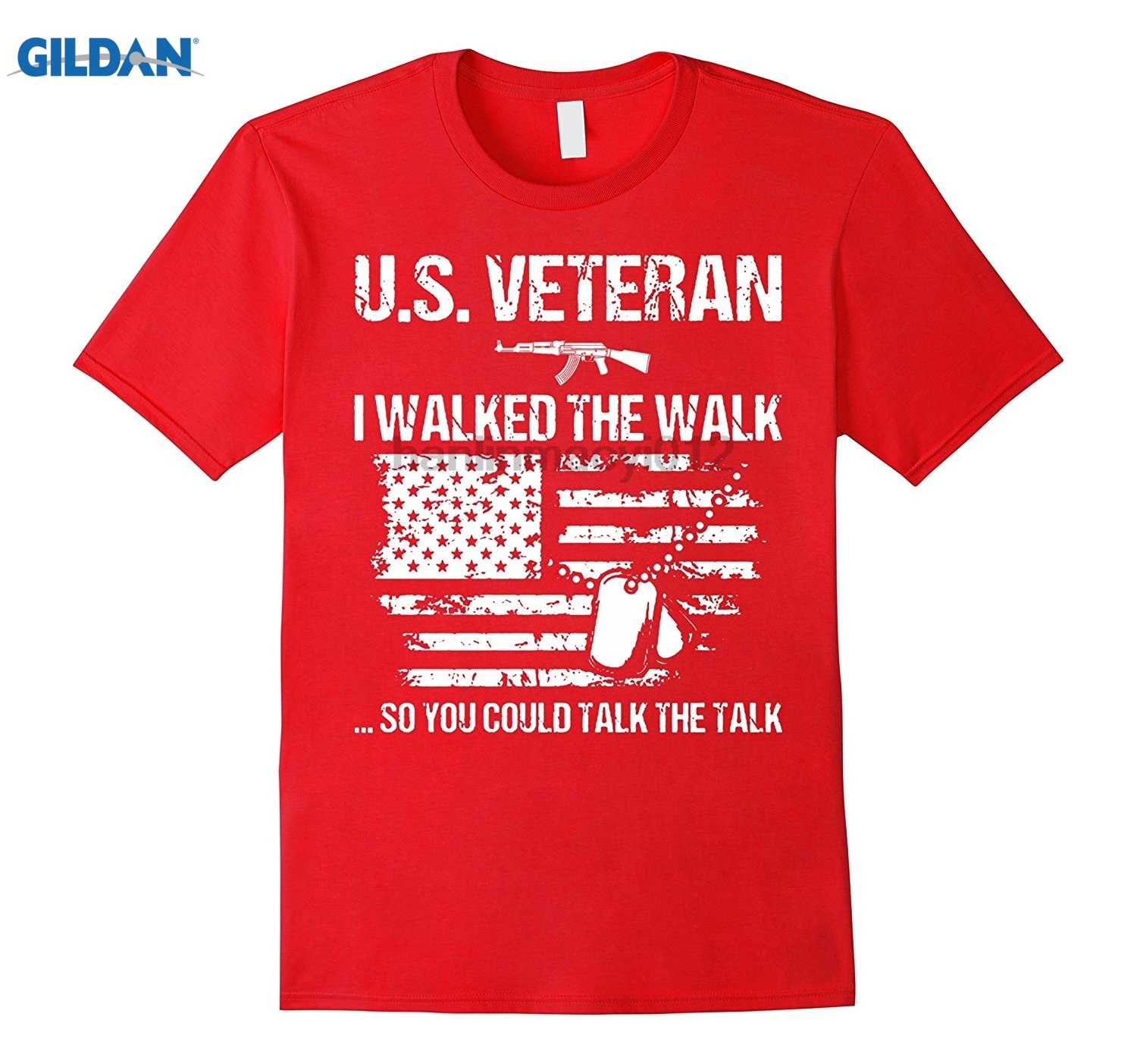 GILDAN U.S VETERAN I WALKED THE WALK SO YOU COULD TALK T-SHIRT Mothers Day Ms. T-shirt