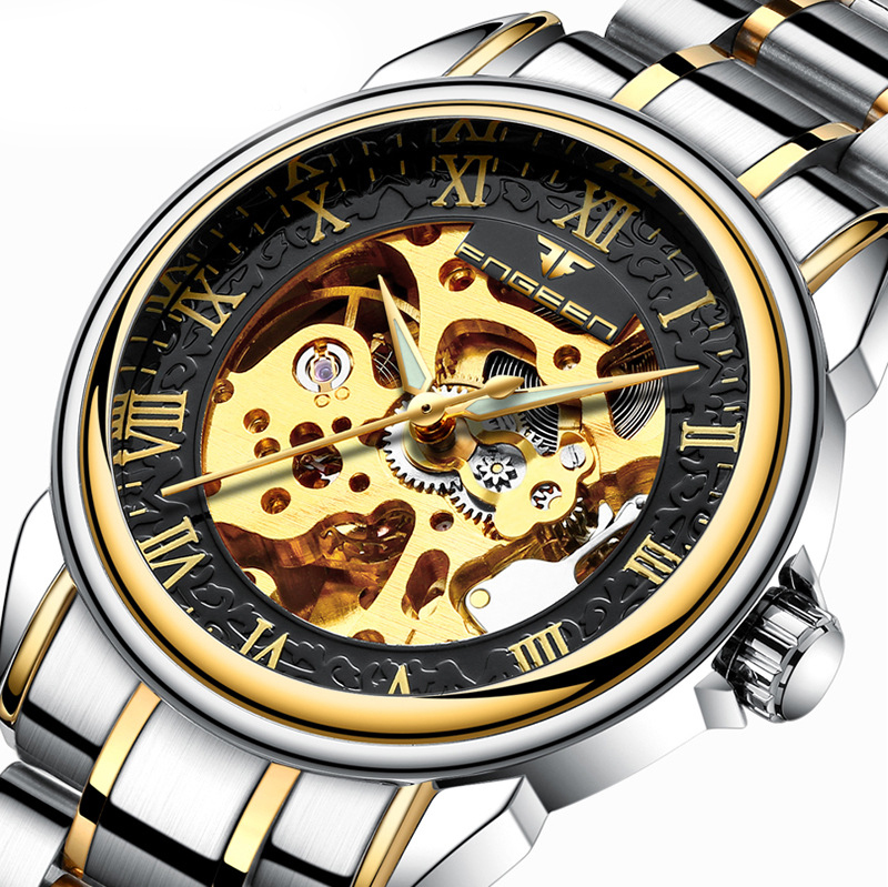 Genuine Brand Luxury Parnis Automatic Mechanical Wristwatches Winner Chronograph Waterproof Army Smael Quartz Watches For Men