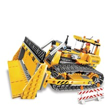 Legoings Technic The Small Dozer Set 394Pcs Building Blocks DIY Toys for Children Compatible Legoing Technics Car Gifts(China)