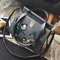 Kajie Good Quality Fashion Bird Embroidered Retro Ladies Casual Tote Handbag Women's Crossbody Shoulder Bag Messenger Bags Gift