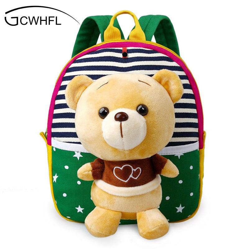 Cute Plush Bear Baby Boys Preschool Bags Little Children's Backpacks Kindergarten School Bags For Girls Kids Satchel For Age 1-3
