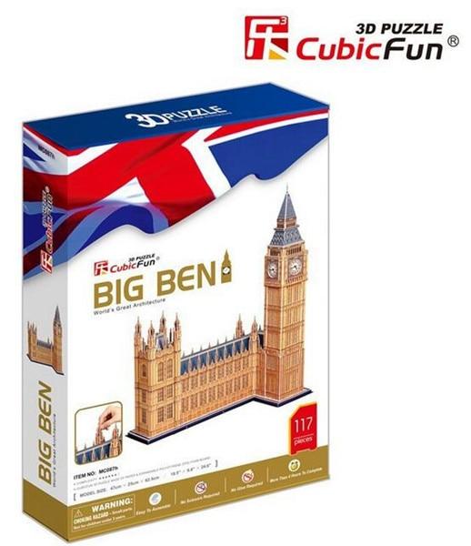 117pcs Cubicfun 3D Paper Puzzle Big Ben Model MC087h Product 47*25*62.5cm