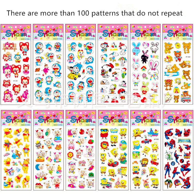 1-59 Different Sheets Cute Pet DIY Stickers 3D Puffy Bubble Cartoon Children Stickers Toys Emoji PVC Scrapbook Gifts For Kids 10 sheets cute masha and bear 3d stickers diary pvc puffy reward kids lot kawaii educational bubble stickers for notebook