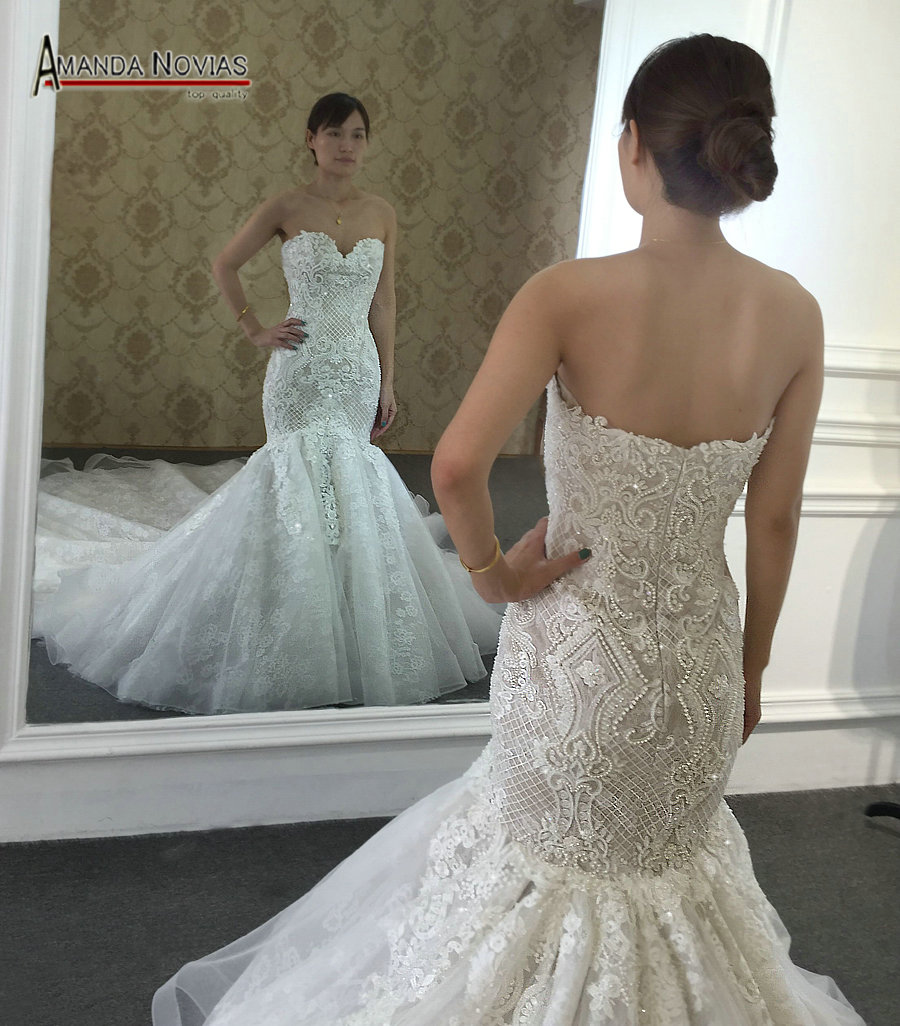 Beaded Mermaid Wedding Dress