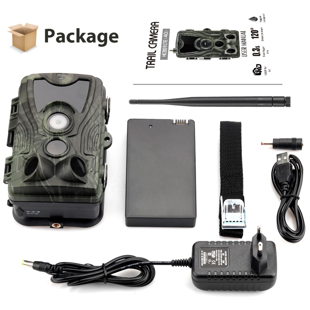 Image 5 - HC 801LTE 4G Hunting Camera 16MP 64GB Trail Camera IP65 Photo Traps 0.3s Wild Camera With A 5000Mah Lithium Battery for a gift-in Hunting Cameras from Sports & Entertainment