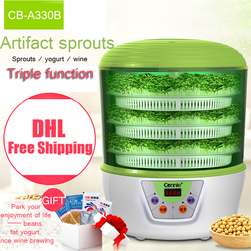 2PC Home Use Intelligence Bean Sprouts Machine Upgrade Large Capacity Thermostat Grow Automatic Bean Sprout Machine