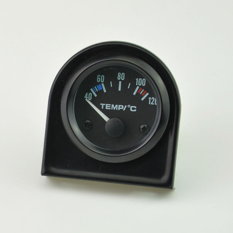 52mm black shell white backlight car motorcycle Water temperature gauge Auto gauge 40-120C Free shipping