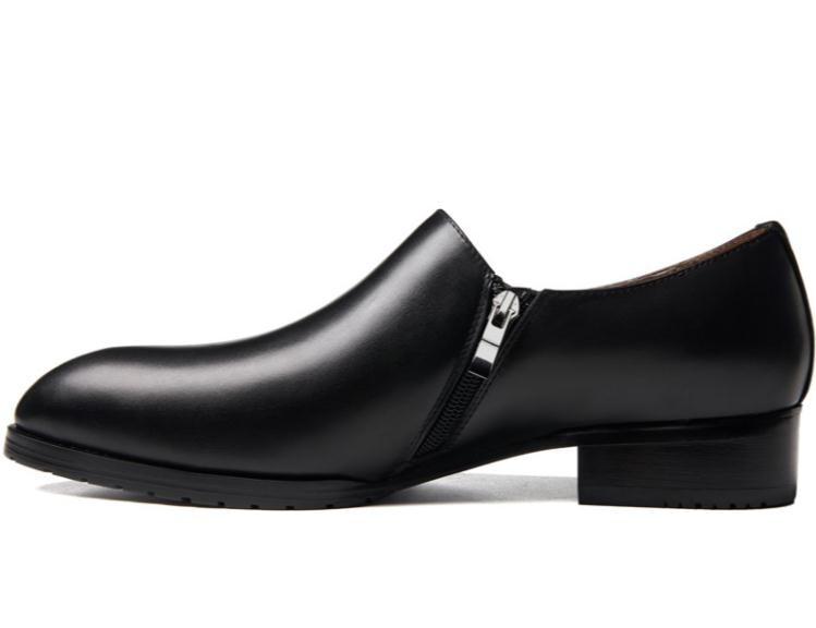 Homens Carreira Dança Couro Design Negócios Sapatas Genuíno Black 44 Tamanho Toe Trabalho Sapatos De Vestido Casuais Dos Moda Apontou Novo 36 qSxIwTZq