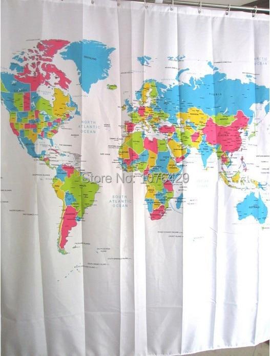 Aliexpress.com : Buy Shower Curtain World Map Pattern Creative ...