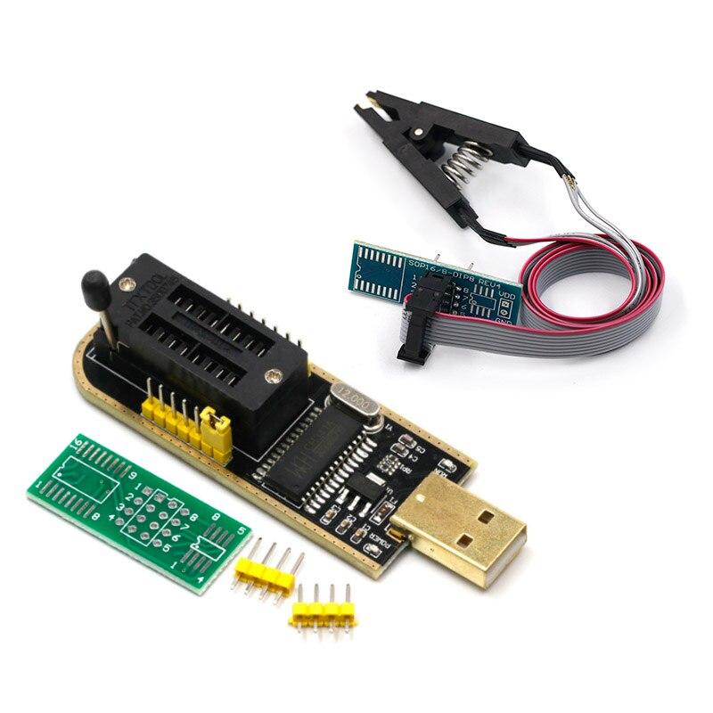 CH341A 24 25 Series EEPROM Flash BIOS USB Programmer Module + SOIC8 SOP8 Test Clip For EEPROM 93CXX / 25CXX / 24CXX
