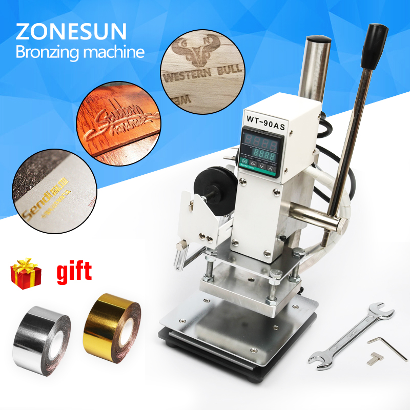 ZONESUN 8*10cm Hot Foil Stamping Machine Manual Bronzing Machine for PVC Card leather and paper stamping machine zonesun hot foil stamping machine manual bronzing machine for pvc card leather and paper stamping machine