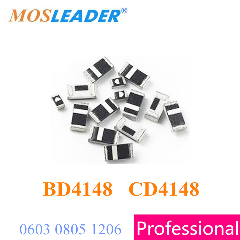 Mosleader BD4148 CD4148 5000PCS 0603 0805 1206 4148 BD4148WSP CD4148WSP 0.2A 200mA 100V Swithcing Dio High quality