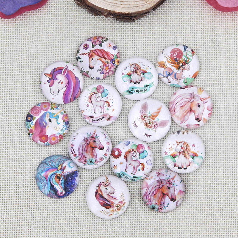Popular Cartoon Animal Round Photo Glass Cabochon Demo Flat Back Fit 14/16/20/25mm Blank Pendants Ring Base For Diy Tray Jewelry
