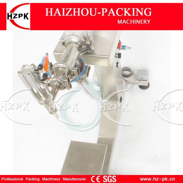 HZPK Vertical Single Head Liquid Filling Machine Electric&Pneumatic For Food Processor Filler Small Packer 100-1000ml G1LYD1000