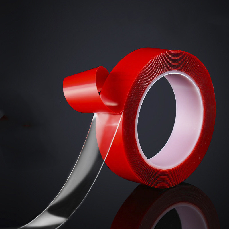 5cm Home Improvement Double Sided Tape Nano Red  No Trace Acrylic Magic Tape Reuse Waterproof Adhesive Tape