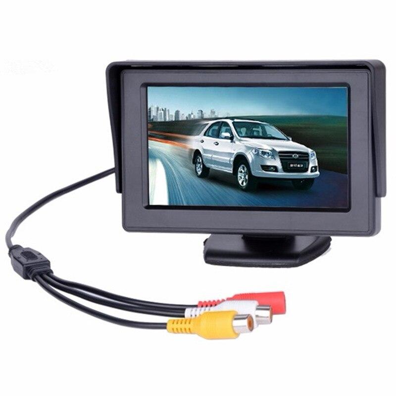 Moniteur de stationnement inversé de voiture, moniteur LCD de 4.3 pouces TFT avec 2 entrées vidéo, DVD, pour caméra de recul, offre spéciale